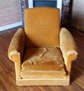 Fauteuil moutarde 1